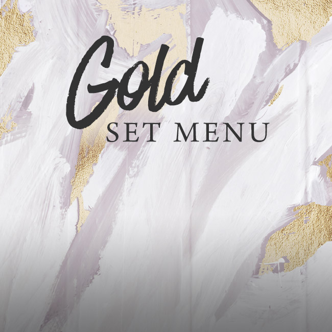 Gold set menu at The Green Man